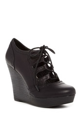 Restricted Laura Platform Wedge Black