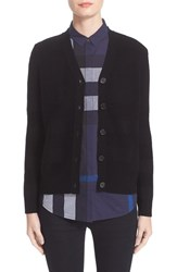 Burberry Women's Bann Plaid Knit Wool And Cashmere Cardigan