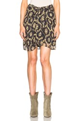 Isabel Marant Tilia Printed Look Skirt In Abstract Geometric Print Yellow