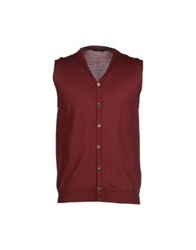 Hosio Cardigans Brick Red