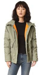 Acne Studios Asa Tech Coat Khaki
