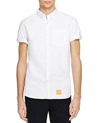 Superdry Ultimate Short Sleeve Oxford Regular Fit Button Down Shirt Optic White