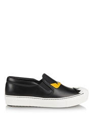 Fendi Fashion Show Leather Low Top Trainers