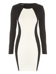 Jane Norman Monochrome Jumper Dress Black White Black White