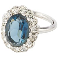 Susan Caplan Vitnage Susan Caplan Vintage 1980S Attwood And Sawyer Silver Plated Faux Sapphire Ring Silver Blue