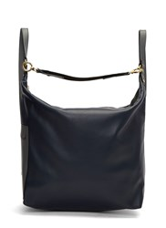 Marni Overall Leather Backpack Navy