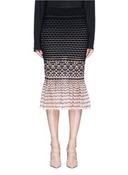Alexander Mcqueen Macrame Stitch Peplum Skirt Multi Colour
