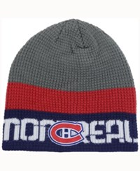 Reebok Montreal Canadiens Player Knit Hat Gray Red Navy