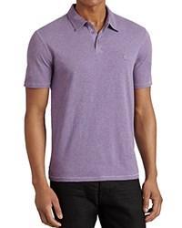 John Varvatos Star Usa Heathered Peace Slim Fit Polo Shirt Iris