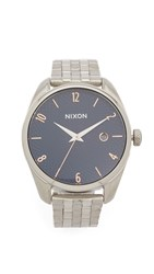 Nixon Bullet Watch Silver Rose Gold Navy