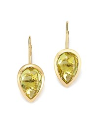 Bloomingdale's Teardrop Lemon Quartz Drop Earrings In 14K Yellow Gold Yellow Gold