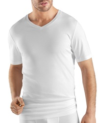 Hanro Sea Island Cotton V Neck Tee White