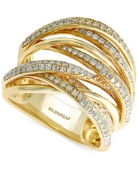 Effy Collection Effy Diamond Diamond Overlap Ring 3 4 Ct. T.W. In 14K White Gold Yellow Gold Or Tri Color Gold