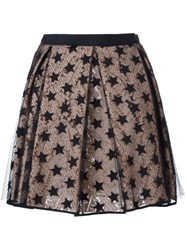 N 21 Nao21 Layered Star And Lace Skirt Black