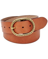 Fossil Vintage Oval Leather Belt Brown