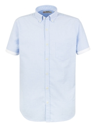 Gibson Oxford Tailored Fit Button Down Shirt Blue