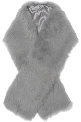 Iris And Ink Shearling Scarf Gray