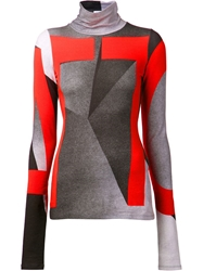 Atto Geometric Print Top Grey