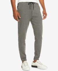 Kenneth Cole New York Men's Flat Front Jogger Pants Flannel Heather