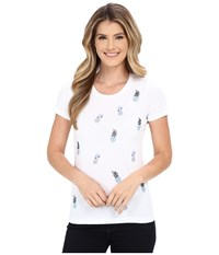 Tommy Bahama Jeweled Pineapple Tee White Women's Short Sleeve Pullover
