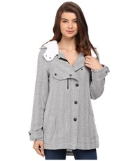 Hurley Freda Jacket Heather Grey Women's Coat Gray