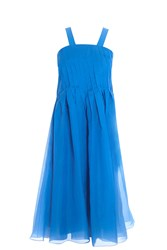 Tibi Isa Dress Blue