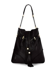 Brian Atwood Lucas Leather Hobo Black