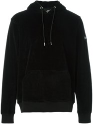 Les Artists Art Ists Patched Arm Drawstrings Hoodie Black