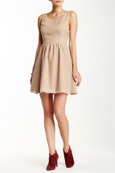 Blvd Back Cutout Fit And Flare Mini Dress Brown