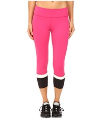 Kate Spade New York X Beyond Yoga Banded Capri Leggings Deep Carnation Cream Black Women's Casual Pants Pink