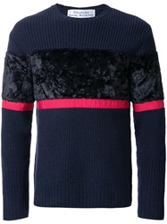 Education From Youngmachines Colour Block Jumper Blue