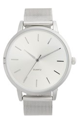 Women's Bp. Round Face Watch 33Mm Silver