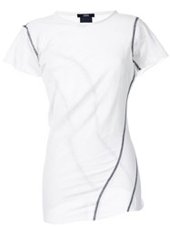 Assin 'Mesh Twist' T Shirt White
