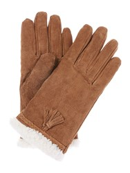 Isotoner Sherpa Sueded Glove Tan