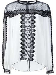 Andrew Gn Lace Panel Blouse White