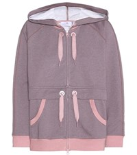 Adidas By Stella Mccartney Essentials Cotton Blend Hoodie Pink