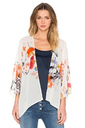 Bishop Young Floral Shawl Ivory