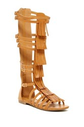 West Blvd Shoes Nairobi Fringe Gladiator Sandal Brown