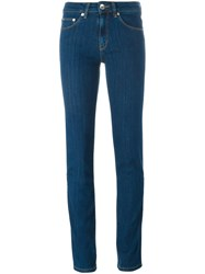 Love Moschino Embroidered Pocket Jeans Blue