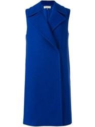 Emilio Pucci Sleeveless Double Breasted Coat Blue