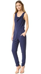Black Halo Patti Jumpsuit Pacific Blue