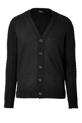 Jil Sander Wool Cardigan In Black