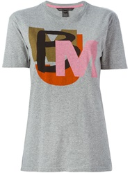 Marc By Marc Jacobs Logo Print T Shirt Grey