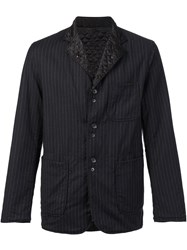 Engineered Garments Pinstripe Shirt Jacket Black