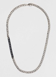 Topman Insert Curb Chain Necklace Black
