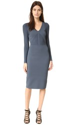 Narciso Rodriguez Long Sleeve Knit Dress Slate