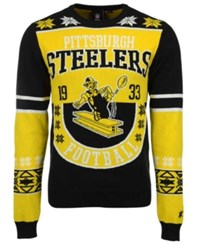 Forever Collectibles Men's Pittsburgh Steelers Retro Christmas Sweater