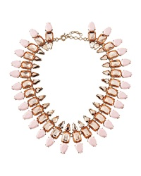 Panacea Pink Rose Statement Collar Necklace