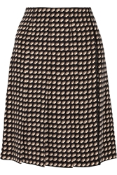Marc Jacobs Wrap Effect Printed Cady Skirt