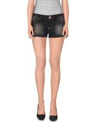 Philipp Plein Denim Shorts Black